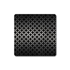 Circles3 Black Marble & Gray Metal 1 Square Magnet by trendistuff