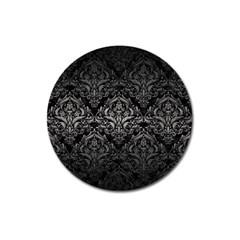 Damask1 Black Marble & Gray Metal 1 Magnet 3  (round) by trendistuff
