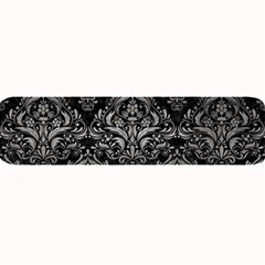 Damask1 Black Marble & Gray Metal 1 Large Bar Mats by trendistuff