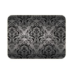 Damask1 Black Marble & Gray Metal 1 (r) Double Sided Flano Blanket (mini)  by trendistuff