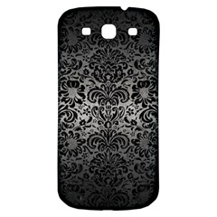 Damask2 Black Marble & Gray Metal 1 (r) Samsung Galaxy S3 S Iii Classic Hardshell Back Case by trendistuff