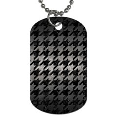 Houndstooth1 Black Marble & Gray Metal 1 Dog Tag (two Sides) by trendistuff