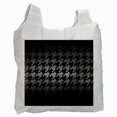 Houndstooth1 Black Marble & Gray Metal 1 Recycle Bag (one Side) by trendistuff