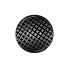 Houndstooth2 Black Marble & Gray Metal 1 Hat Clip Ball Marker (10 Pack) by trendistuff
