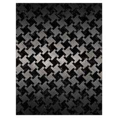Houndstooth2 Black Marble & Gray Metal 1 Drawstring Bag (large) by trendistuff
