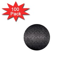 Hexagon1 Black Marble & Gray Metal 1 (r) 1  Mini Buttons (100 Pack)  by trendistuff