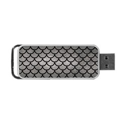 Scales1 Black Marble & Gray Metal 1 (r) Portable Usb Flash (two Sides) by trendistuff