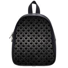 Scales2 Black Marble & Gray Metal 1 School Bag (small) by trendistuff