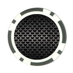 Scales3 Black Marble & Gray Metal 1 Poker Chip Card Guard