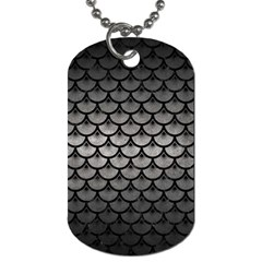 Scales3 Black Marble & Gray Metal 1 (r) Dog Tag (two Sides) by trendistuff