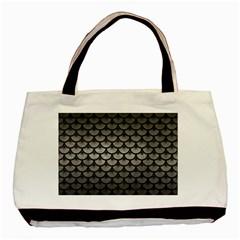 Scales3 Black Marble & Gray Metal 1 (r) Basic Tote Bag by trendistuff