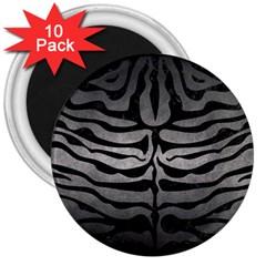 Skin2 Black Marble & Gray Metal 1 (r) 3  Magnets (10 Pack)  by trendistuff