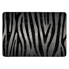 Skin4 Black Marble & Gray Metal 1 Samsung Galaxy Tab 8 9  P7300 Flip Case by trendistuff