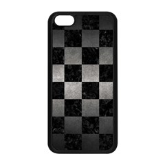Square1 Black Marble & Gray Metal 1 Apple Iphone 5c Seamless Case (black) by trendistuff