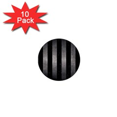 Stripes1 Black Marble & Gray Metal 1 1  Mini Buttons (10 Pack)  by trendistuff