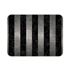 Stripes1 Black Marble & Gray Metal 1 Double Sided Flano Blanket (mini)  by trendistuff