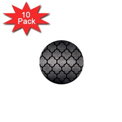 Tile1 Black Marble & Gray Metal 1 (r) 1  Mini Buttons (10 Pack)  by trendistuff