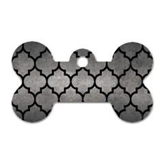 Tile1 Black Marble & Gray Metal 1 (r) Dog Tag Bone (two Sides) by trendistuff