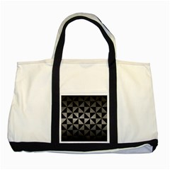 Triangle1 Black Marble & Gray Metal 1 Two Tone Tote Bag by trendistuff