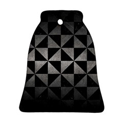Triangle1 Black Marble & Gray Metal 1 Bell Ornament (two Sides) by trendistuff