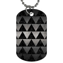 Triangle2 Black Marble & Gray Metal 1 Dog Tag (two Sides) by trendistuff