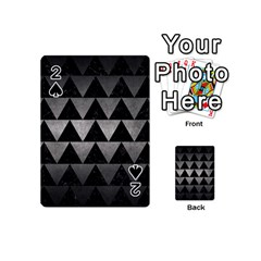 Triangle2 Black Marble & Gray Metal 1 Playing Cards 54 (mini)  by trendistuff