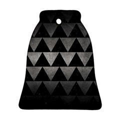 Triangle2 Black Marble & Gray Metal 1 Bell Ornament (two Sides) by trendistuff