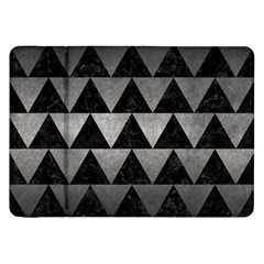 Triangle2 Black Marble & Gray Metal 1 Samsung Galaxy Tab 8 9  P7300 Flip Case by trendistuff