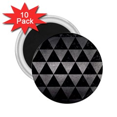 Triangle3 Black Marble & Gray Metal 1 2 25  Magnets (10 Pack)  by trendistuff