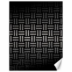 Woven1 Black Marble & Gray Metal 1 Canvas 12  X 16   by trendistuff