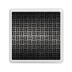 Woven1 Black Marble & Gray Metal 1 (r) Memory Card Reader (square)  by trendistuff