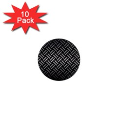 Woven2 Black Marble & Gray Metal 1 1  Mini Magnet (10 Pack)  by trendistuff
