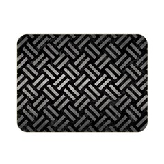 Woven2 Black Marble & Gray Metal 1 Double Sided Flano Blanket (mini)  by trendistuff