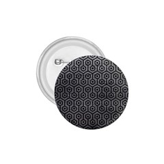Hexagon1 Black Marble & Gray Leather (r) 1 75  Buttons by trendistuff