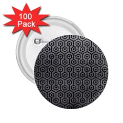 Hexagon1 Black Marble & Gray Leather (r) 2 25  Buttons (100 Pack)  by trendistuff