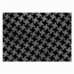Houndstooth2 Black Marble & Gray Leather Large Glasses Cloth by trendistuff
