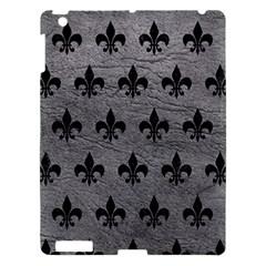 Royal1 Black Marble & Gray Leather Apple Ipad 3/4 Hardshell Case by trendistuff