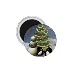 Funny Snowman With Penguin And Christmas Tree 1 75  Magnets by FantasyWorld7