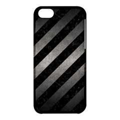 Stripes3 Black Marble & Gray Metal 1 Apple Iphone 5c Hardshell Case by trendistuff