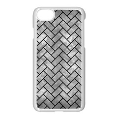 Brick2 Black Marble & Gray Metal 2 (r) Apple Iphone 7 Seamless Case (white) by trendistuff