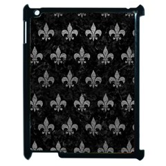 Royal1 Black Marble & Gray Leather (r) Apple Ipad 2 Case (black) by trendistuff