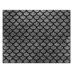 Scales1 Black Marble & Gray Leather (r) Rectangular Jigsaw Puzzl by trendistuff