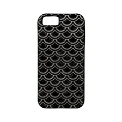Scales2 Black Marble & Gray Leather Apple Iphone 5 Classic Hardshell Case (pc+silicone) by trendistuff