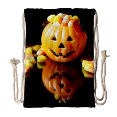Igp0091 Pumpkinv Drawstring Bag (large) by PhotoThisxyz