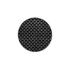 Scales3 Black Marble & Gray Leather Golf Ball Marker (10 Pack) by trendistuff