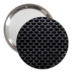 Scales3 Black Marble & Gray Leather 3  Handbag Mirrors by trendistuff