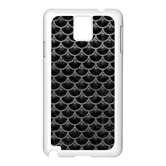 Scales3 Black Marble & Gray Leather Samsung Galaxy Note 3 N9005 Case (white) by trendistuff