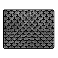Scales3 Black Marble & Gray Leather (r) Fleece Blanket (small) by trendistuff