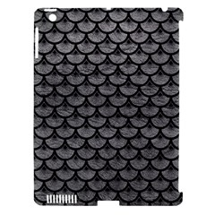 Scales3 Black Marble & Gray Leather (r) Apple Ipad 3/4 Hardshell Case (compatible With Smart Cover) by trendistuff