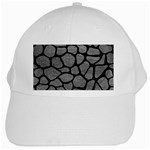 SKIN1 BLACK MARBLE & GRAY LEATHER White Cap